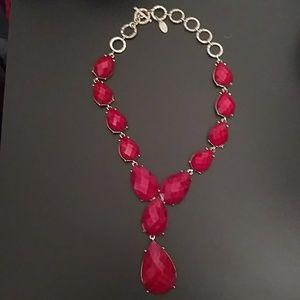 Amrita Singh red necklace
